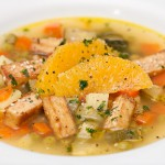 vegetable soup with anise, ginger and orange juice