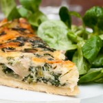 mushroom potato spinach quiche