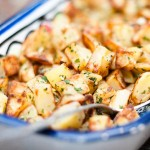 fried potatoes with cilantro