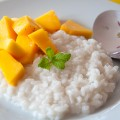 coconut milk rice with mango