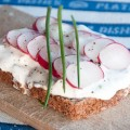 quark spread with chive, radish and onion