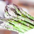 grilled green asparagus with pine nuts and parmesan