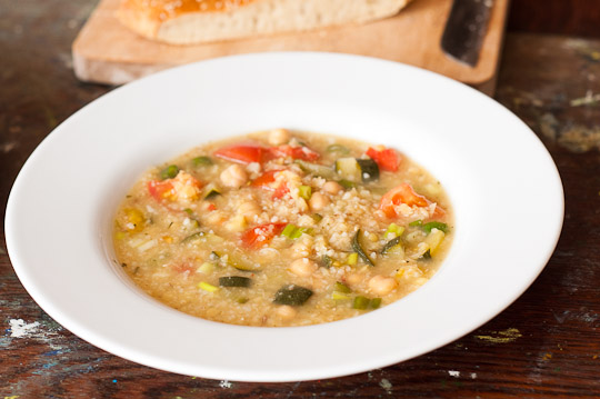 ... it more soupy you could leave out the couscous or use less lentils