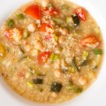 red lentil soup with vegetables, dates and ginger